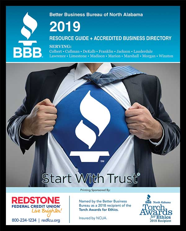 Better Business Bureau 2019 Resource Guide Cover Design.