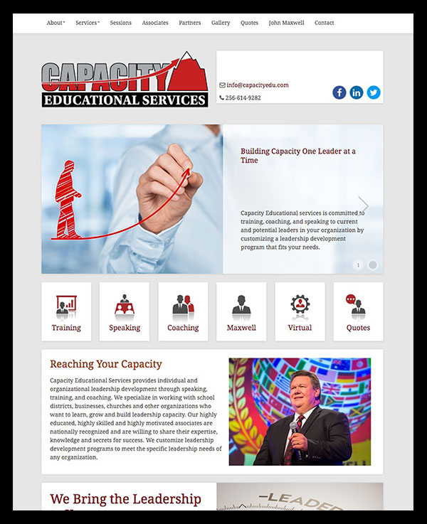 Capacity Educational Services Website