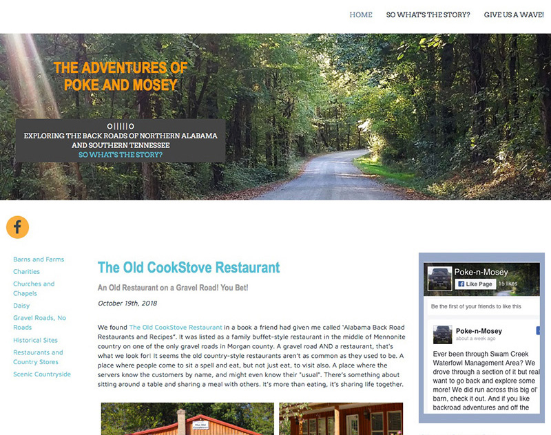 Poke n Mosey Adventure Blog Website Design by Empty Tomb Graphics.